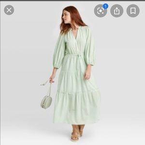 Women's long sleeve mint dress